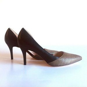 New Cole Haan Black Grey Leather Pumps size 7.5 B